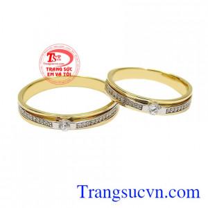 Nhẫn cưới vàng hạnh phúc đôi lứa
