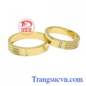 Nhẫn cưới vàng tây ấn tượng