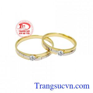 Nhẫn cưới vàng tây chung thủy