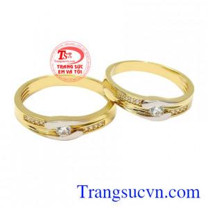 Nhẫn cưới vàng tây kết duyên