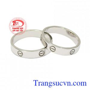 Nhẫn cưới vàng trắng xu hướng