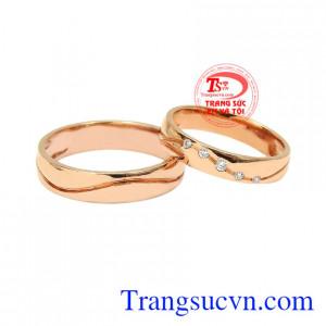 Nhẫn cưới vàng hồng chung thủy