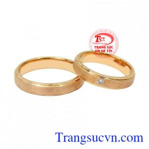 Nhẫn cưới vàng hồng mặn nồng