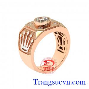 Nhẫn nam vàng hồng nam tính