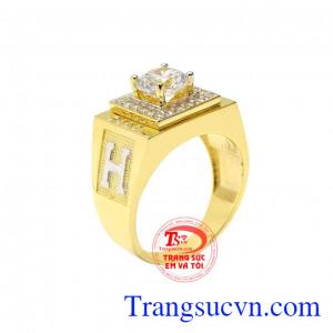 Nhẫn nam vàng thời trang đẹp