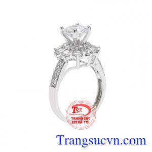 Nhẫn nữ bạc lấp lánh