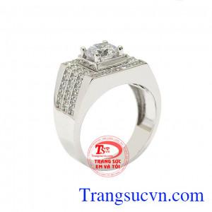 Nhẫn vàng trắng nam nhập khẩu