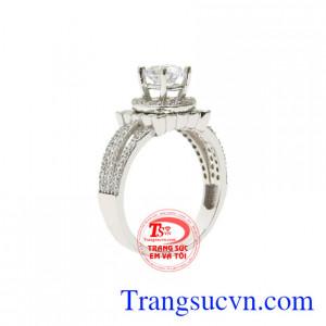 Nhẫn vàng trắng phái đẹp
