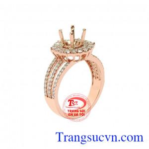 Vỏ nhẫn nữ kim cương quyến rũ