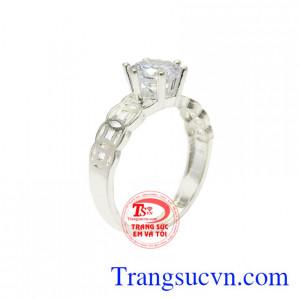 Nhẫn bạc nữ kim tiền