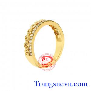 Nhẫn kim tiền tài lộc phái đẹp