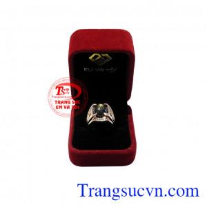 Nhẫn nam vàng hồng sapphire sang trọng