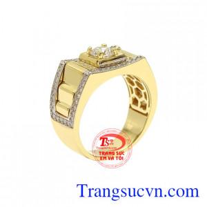 Nhẫn nam vàng màu xu hướng