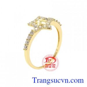Nhẫn nữ ngôi sao xinh xắn