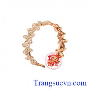 Nhẫn nữ vàng hồng thời trang