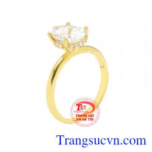 Nhẫn nữ vàng màu độc đáo