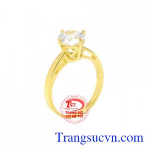 Nhẫn nữ vàng màu duyên dáng