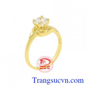 Nhẫn nữ vàng màu thanh tú