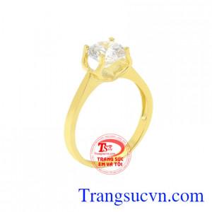 Nhẫn nữ vàng màu xinh xắn
