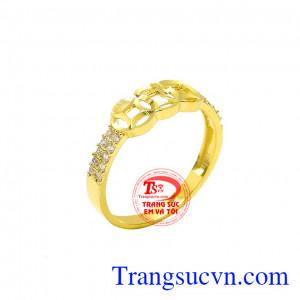 Nhẫn vàng tây kim tiền đẹp