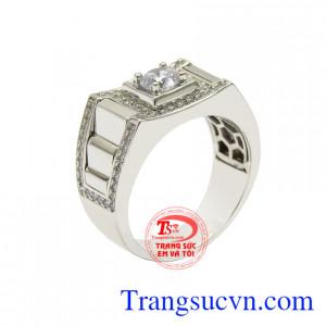 Nhẫn vàng trắng nam giới