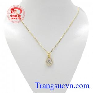 Bộ trang sức nữ vàng tây lấp lánh