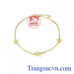 Lắc chân vàng ngôi sao
