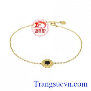 Lắc tay nữ vàng tây thời trang