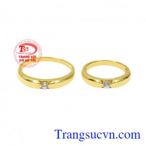 Nhẫn cưới vàng hạnh phúc viên mãn