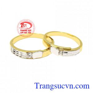 Nhẫn cưới vàng tây đôi lứa