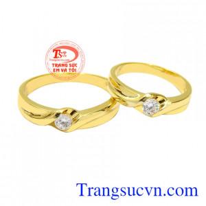 Nhẫn cưới vàng tây vĩnh cửu