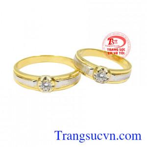 Nhẫn cưới vàng tây yêu thương