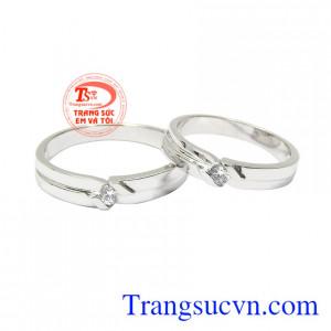 Nhẫn cưới vàng trắng kết duyên