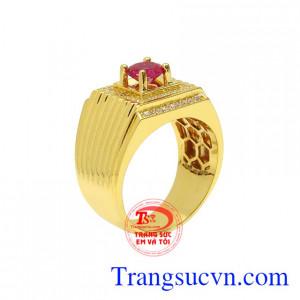Nhẫn nam vàng màu phong cách