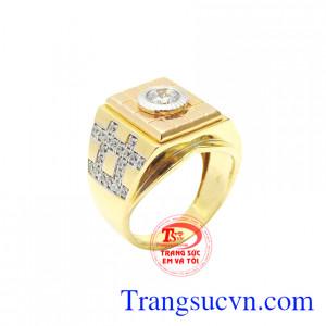 Nhẫn nam vàng tây ấn tượng