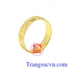 Nhẫn nữ cá tính vàng tây