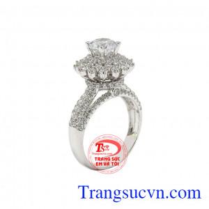Nhẫn nữ kiêu sa vàng trắng