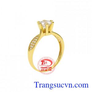 Nhẫn nữ vàng màu kiều diễm