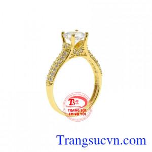 Nhẫn nữ vàng màu quyến rũ