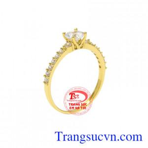 Nhẫn nữ vàng tây nhỏ xinh