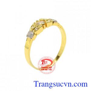 Nhẫn nữ vàng tây trang nhã