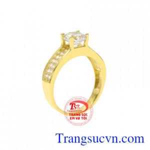 Nhẫn nữ vàng tây xu hướng