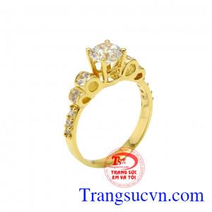 Nhẫn vàng tây tiểu thư