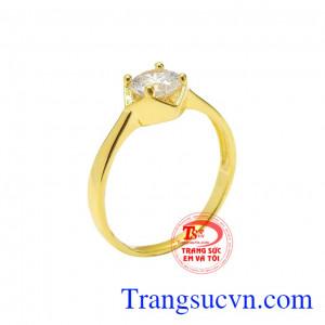 Nhẫn vàng tây trang nhã