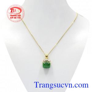 Bộ mặt dây vàng jadeite lu thống