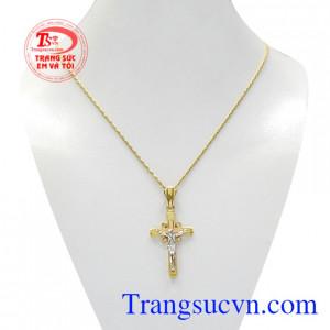 Bộ mặt thánh giá vàng cầu nguyện