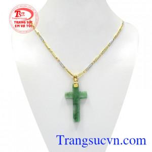 Bộ mặt thánh giá vàng jadeite