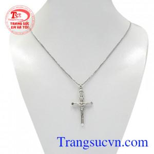 Bộ mặt thánh giá vàng trắng jesus