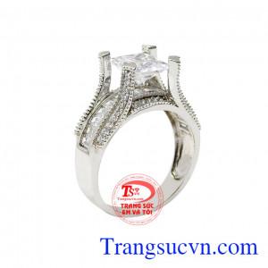 Nhẫn nữ đẳng cấp vàng trắng