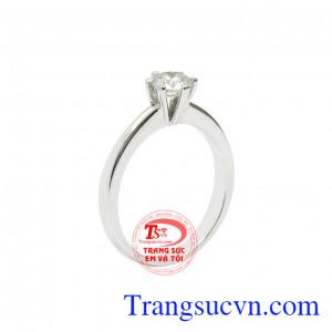 Nhẫn nữ kim cương trang nhã